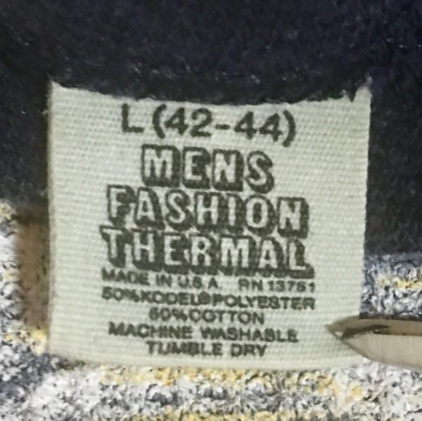 Mens Thermal Fashion Tag