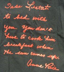 take lestat to bed shirt