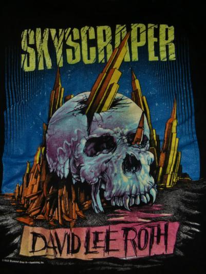 444df4019d2 David Lee Roth 1988 Vintage Concert T-Shirt - Van Halen