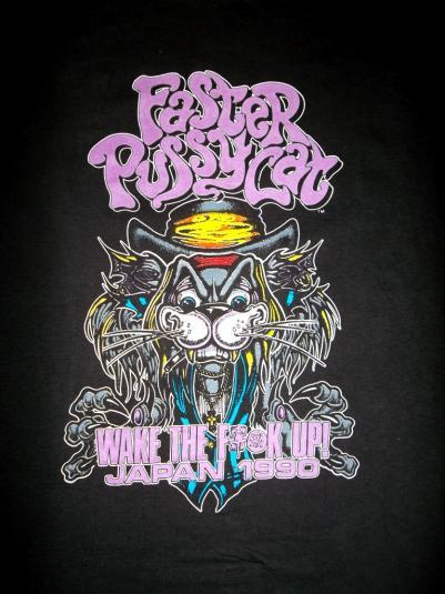 faster pussycat 1990 japan concert tour t