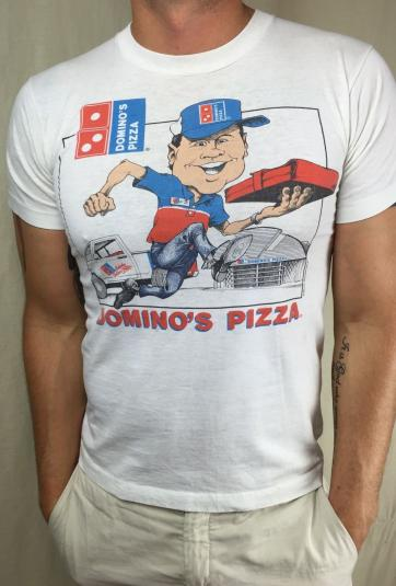 Domino Pizza Delivery >> Vintage 1990 Domino's Pizza Delivery Graphic Logo T-Shirt