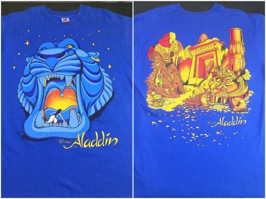 Vintage 1992 Walt Disney Aladdin Cave Of Wonders T Shirt Xl