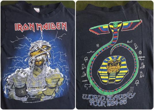 Vintage 1984 85 Iron Maiden World Slavery Tour T Shirt