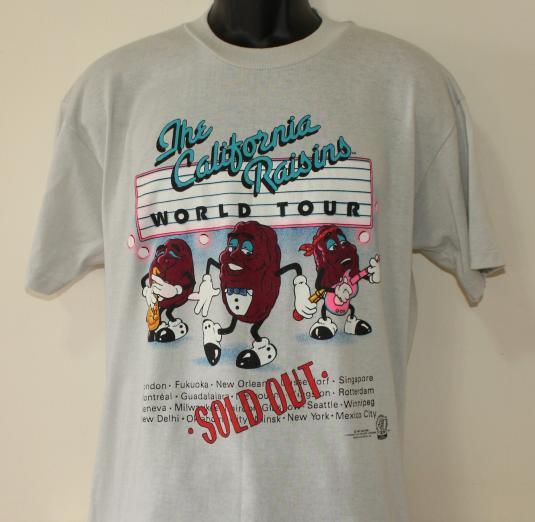 california raisins t shirt