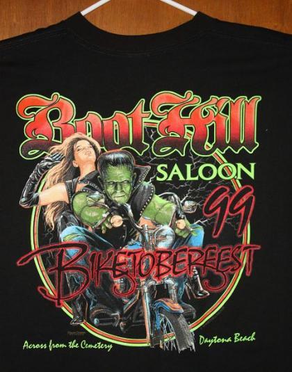 Vintage Boot Hill Saloon Biketoberfest Frankenstein T-shirt