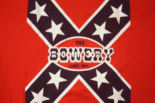 Vintage 90's The Bowery Myrtle Beach SC Rebel Flag T-Shirt