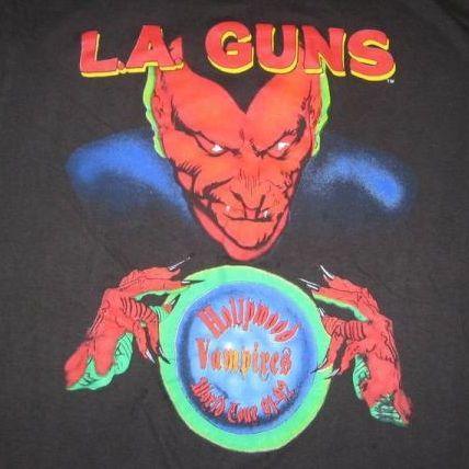 vintage la guns hollywood vampires 1991 tour t shirt l a 90s. Black Bedroom Furniture Sets. Home Design Ideas