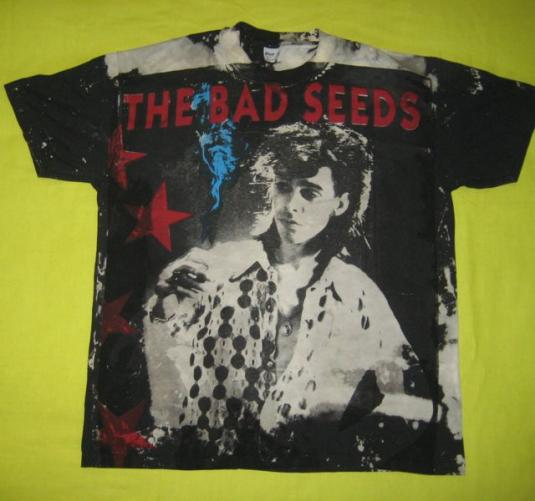 vintage nick cave and the bad seeds 80s t