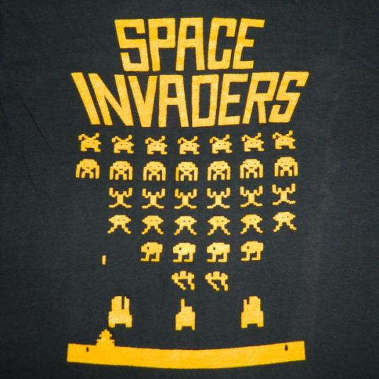 Vintage Space Invaders 80s Laid Back Records T Shirt