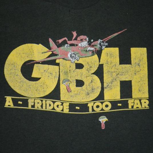 Vintage G B H 1989 Tour T Shirt Gbh Concert 80s Punk