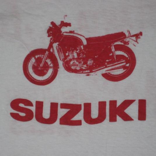 Vintage 70S SUZUKI MOTORCYCLE ATLANTA SHOP T-Shirt