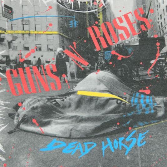 Vintage Guns N Roses Xxxl Screen Stars Dead Horse T Shirt 92
