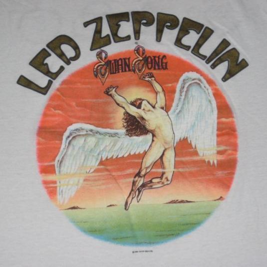 Vintage Led Zeppelin 1984 Swan Song T Shirt 80s Xl