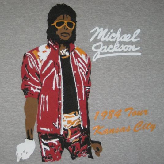 Vintage MICHAEL JACKSON 1984 TOUR T Shirt SMALL Concert 80S