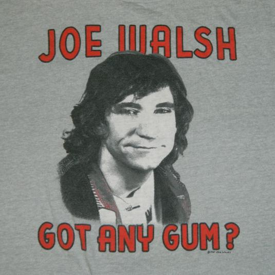 Vintage JOE WALSH 1987 GOT ANY GUM? T-Shirt 80s