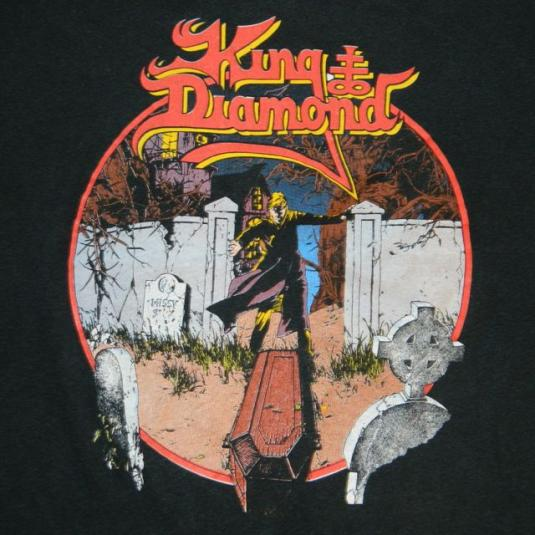 9ff546a424f Vintage KING DIAMOND 1989 CONSPIRACY TOUR T-Shirt concert