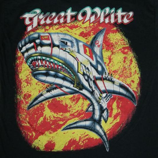 Vintage GREAT WHITE 1987 TOUR T-Shirt concert