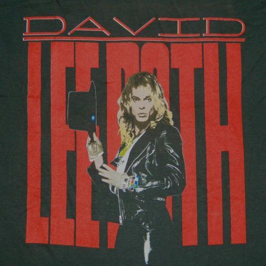 4f110221875 vintage DAVID LEE ROTH 1988 SKYSCRAPER PROMO T-Shirt