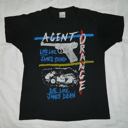 Vintage Agent Orange 80s T Shirt Skate Rock Punk Band