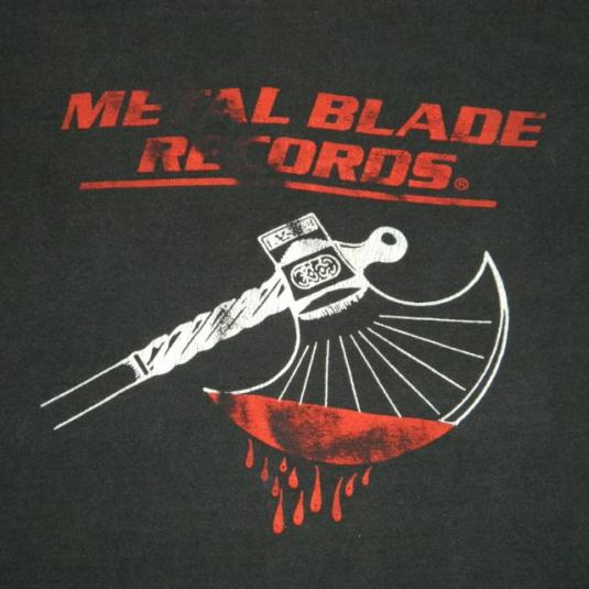 Vintage Metal Blade Records T Shirt 80s Og Logo Metallica