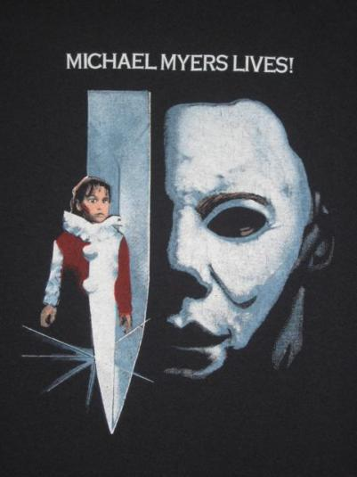 vintage HALLOWEEN 5 MICHAEL MYERS 80s M T-Shirt Horror movie