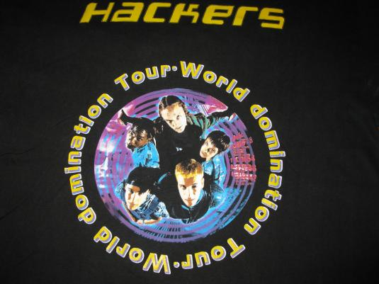 1995 HACKERS ANGELINA JOLIE DEBUT MOVIE VINTAGE T-SHIRT