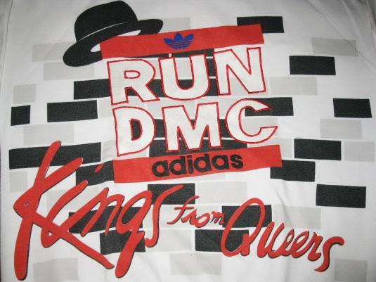 adidas run dmc t shirt vintage