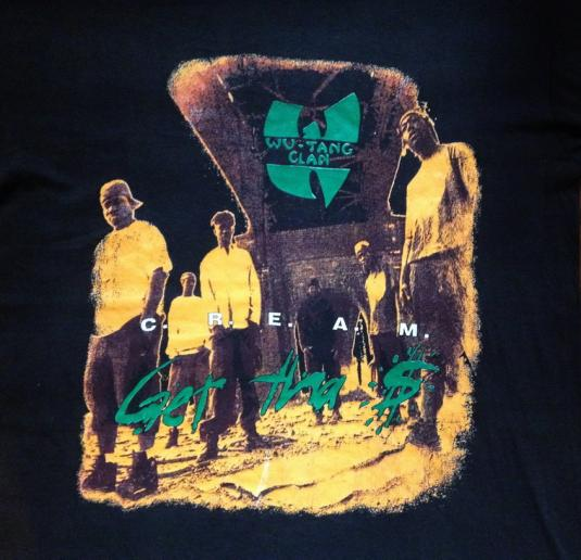 1994 Wu Tang Clan C R E A M Vintage T Shirt Hip Hop