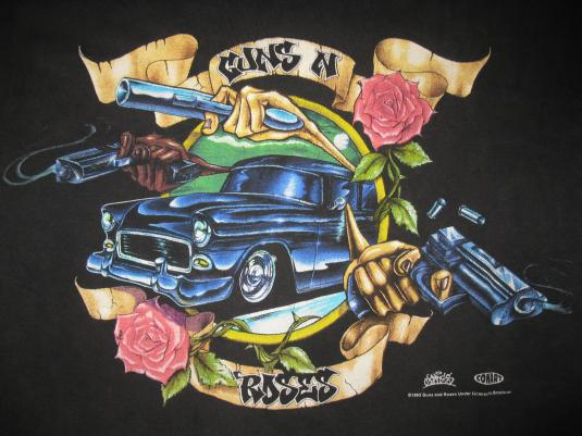 1993 guns n roses live like a suicide vintage tshirt
