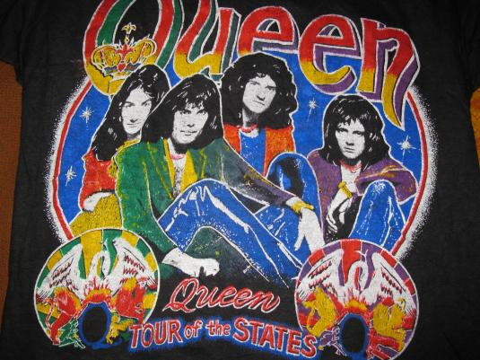 S QUEEN TOUR OF THE STATES VINTAGE TSHIRT FREDDY MERCURY - Tour of the states