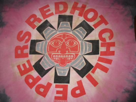 ace49698 1991 RED HOT CHILI PEPPERS TIE DYE VINTAGE T-SHIRT RHCP