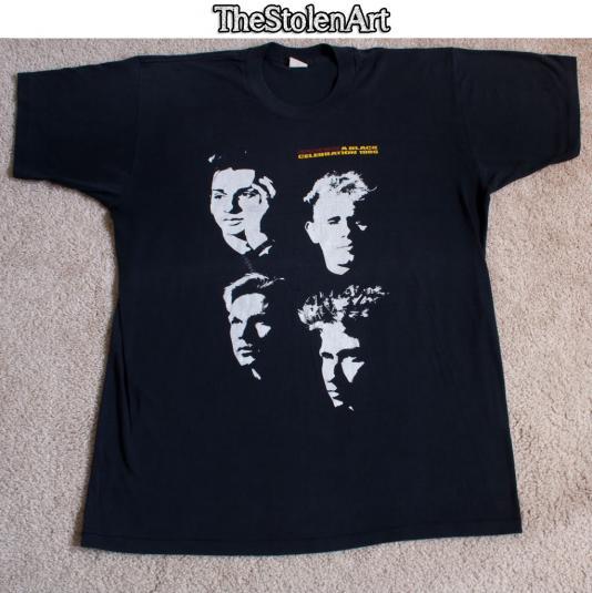 vtg 1986 depeche mode black celebration tour t shirt. Black Bedroom Furniture Sets. Home Design Ideas