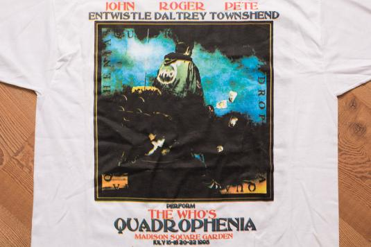 The Who Quadrophenia Tour T Shirt, Madison Square Garden 90s