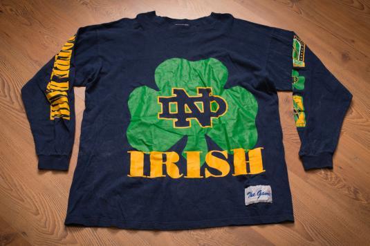 Notre Dame University Fighting Irish Long Sleeve T Shirt 90s