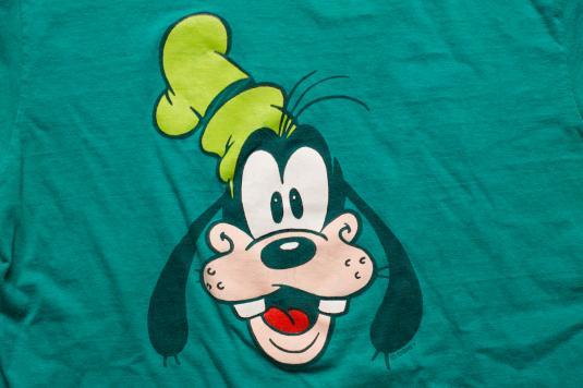 goofy character tshirt walt disney cartoon head hanes