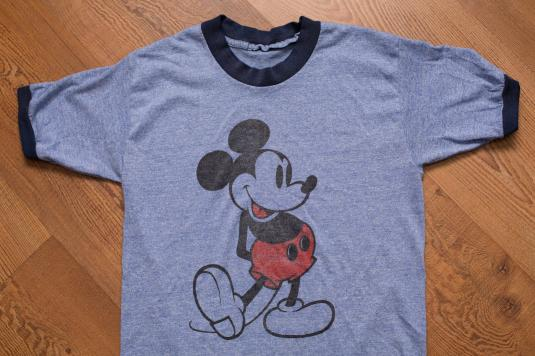 5349f600 Mickey Mouse Blue Ringer T-Shirt Vintage 1970s-1980s, Disney