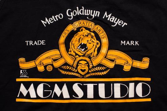 Mgm Studio Tank Top Classic Gold Film Roaring Lion Logo