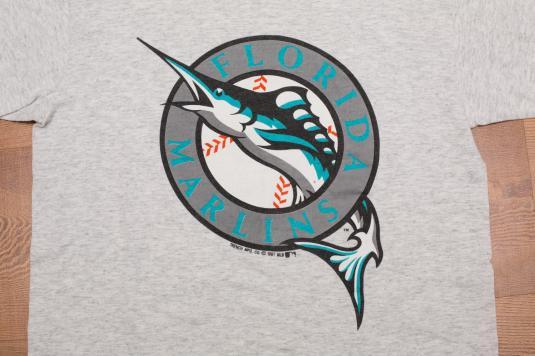 b59c4b088dc Vintage 90s Florida Marlins Logo T-Shirt