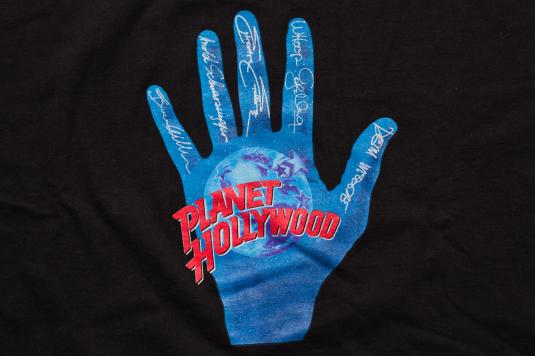 Planet hollywood v t shirt fifth anniversary 5th 1996 for Planet hollywood t shirt