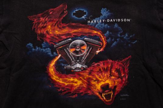 Harley Davidson Usa >> Harley-Davidson Fire Wolves T-Shirt, American Motorcycles