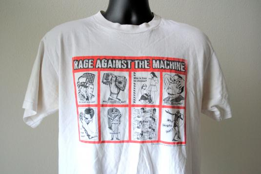 Vintage Rage Against The Machine - Band T-shirt - 90s - M
