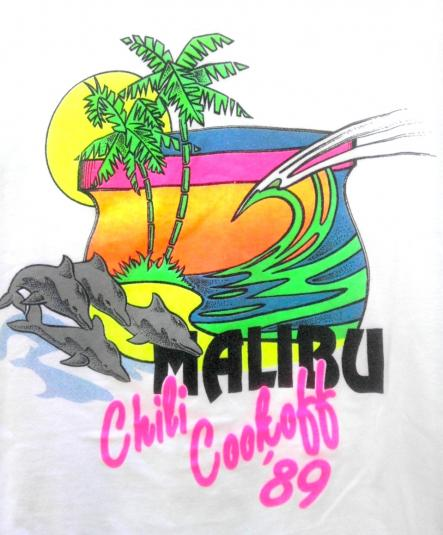 Pit Crew Shirts >> 1989 Malibu Chili Cookoff Neon vintage t-shirt
