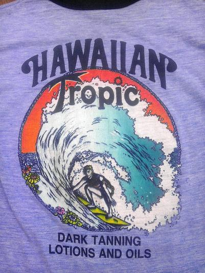 70s Rayon Hawaiian Tropic Daytona Beach Vintage T-Shirt 80s