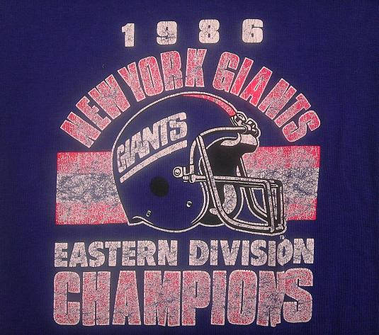 1332934f4 Vintage 1985 NY GIANTS New York Football NFL t-shirt