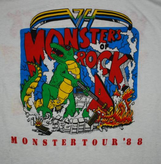 vintage metallica monsters of rock 1988 tour t