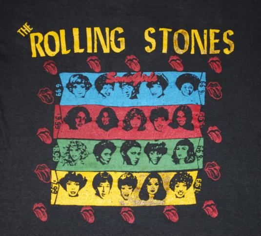 VINTAGE THE ROLLING STONES SOME GIRLS 1978 TOUR T-SHIRT *