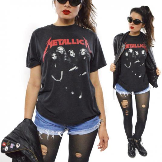 c84463e0 Vintage 80s Metallica ...And Justice For All T Shirt Sz L