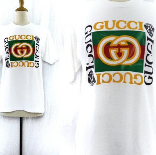 118e8bf1212 Vintage 90s Bootleg GUCCI Screen Stars Hip Hop Rap T Shirt