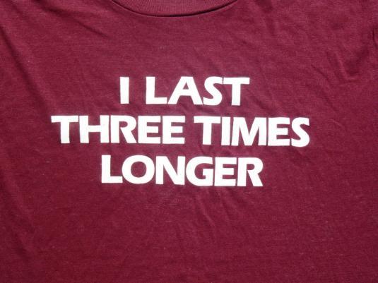 Vintage 1980s Burgundy OcuClear Three Times Longer T Shirt L