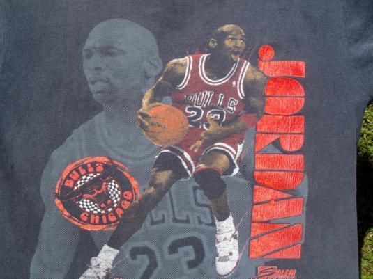 b2afe118c1b Vintage 1990 Michael Jordan Chicago Bulls Black T-Shirt L